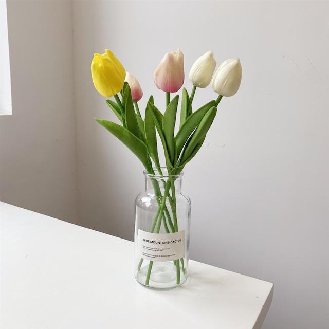 ラベル花瓶+チューリップSET BL1518