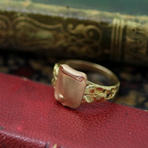 Art-Nouveau Gold Ring  アール・ヌーヴォー ゴールドリング