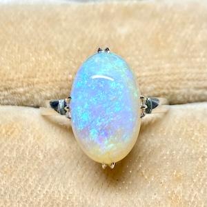 昭和の懐かしい指輪 Japanese Traditional ring k14WG オパール