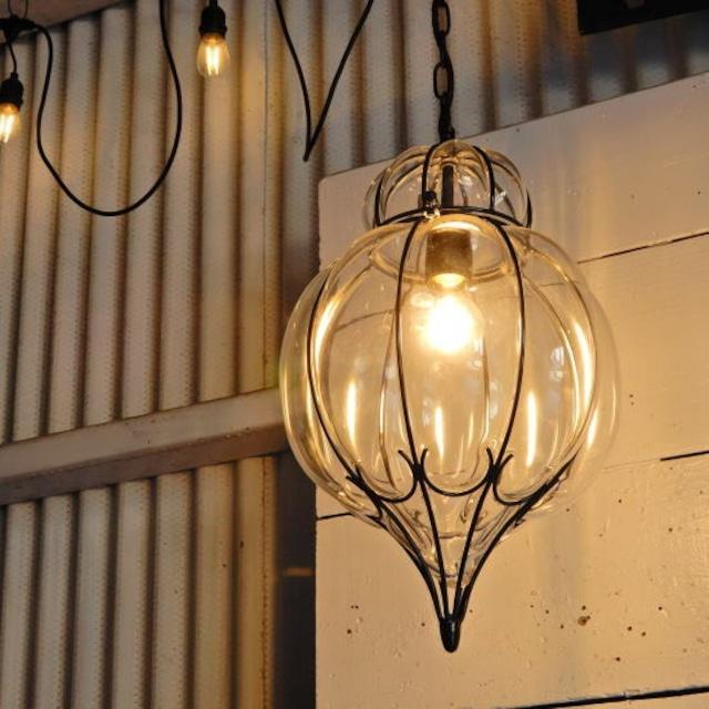 TOPANGA Lighting ブロウパンプキンガラスランプ