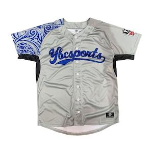 【YBC】Baseball Shirt Gray × Blue