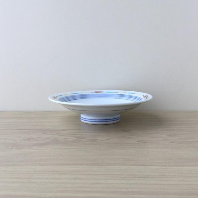 【有田焼】色絵線文 高台小皿【在庫限り】