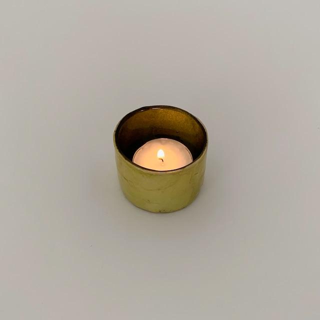 Votive Candleholder Bamboo Olive Green|ボーティブ キャンドルホルダー バンブー オリーブグリーン