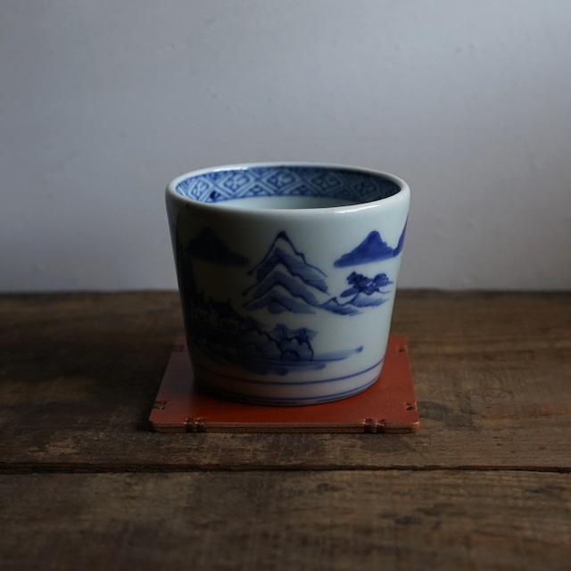 コップ敷き 牛ヌメ革/ 牛革柿渋染