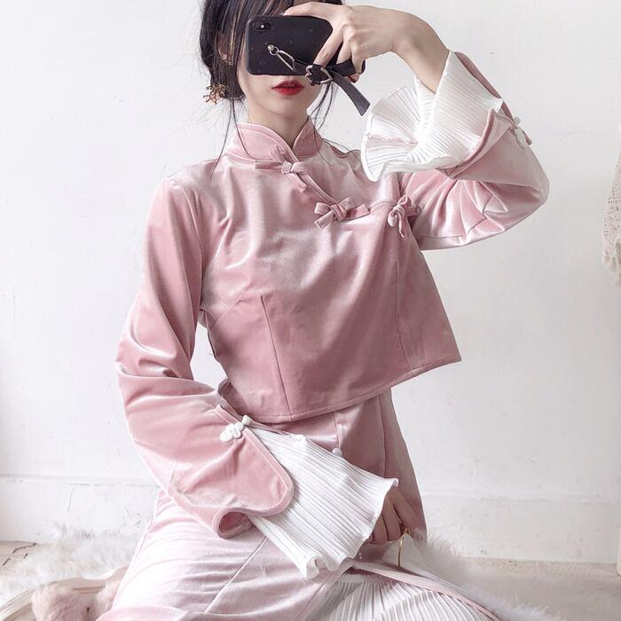 [2color] Velvet China Girl