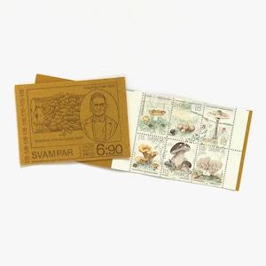 切手帳(未使用)「キノコ - 6枚構成(1978)」