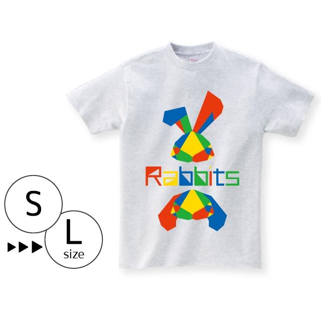 Tシャツ:パキパキラビッツ〈アッシュ〉
