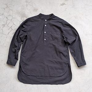 <OSOCU> Dungaree long sleeve PO shirt Nagoya Kuromon Tukesome black dye