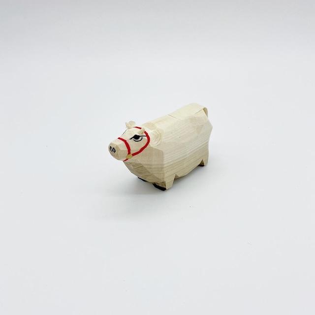 笹野一刀彫 干支人形|丑 2.5寸
