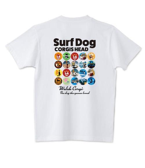 No.2021-spring-TS-002 :  缶バッジデザイン コーギー  バージョン1 Tシャツ5.6oz