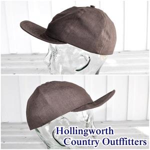 Hollingworth country outfitters(ホリングワース カントリー アウトフィッターズ)イギリス製 メンズ レディース 麻キャップ 帽子 男女兼用 PE1001L