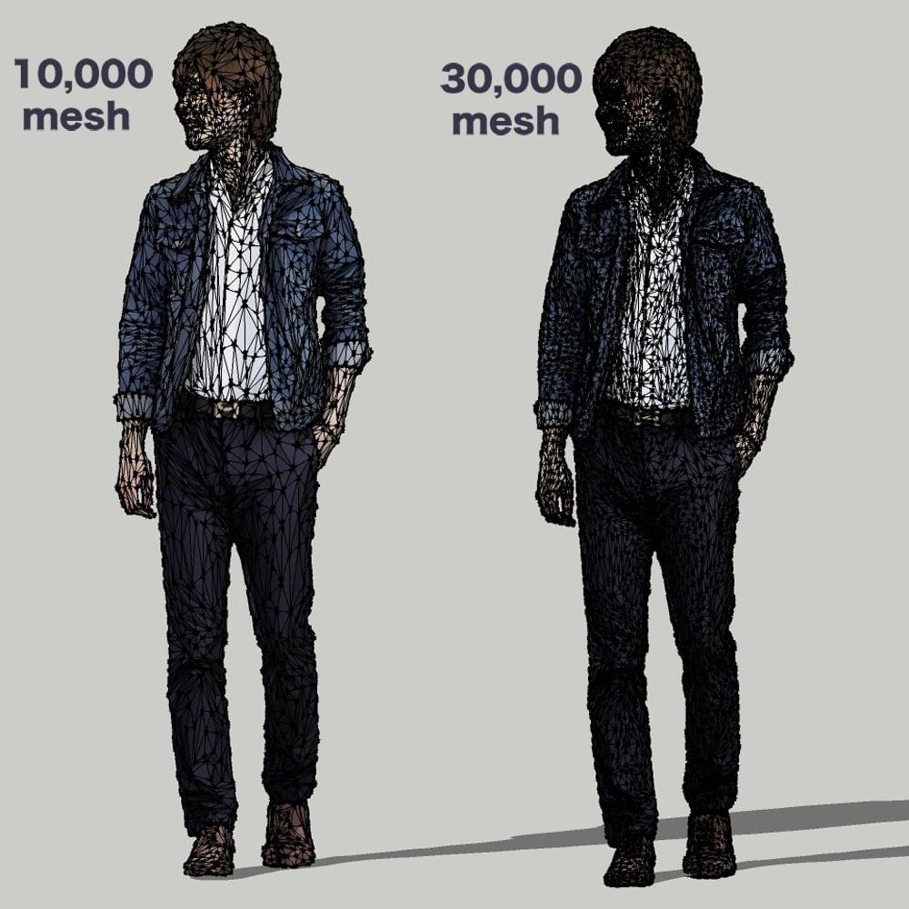 SketchUp素材 3D人物モデル ( Posed ) 087_Ren - 画像3