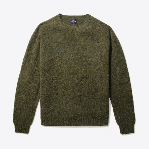 Cross Country Shetland Sweater(Midnight Grey)