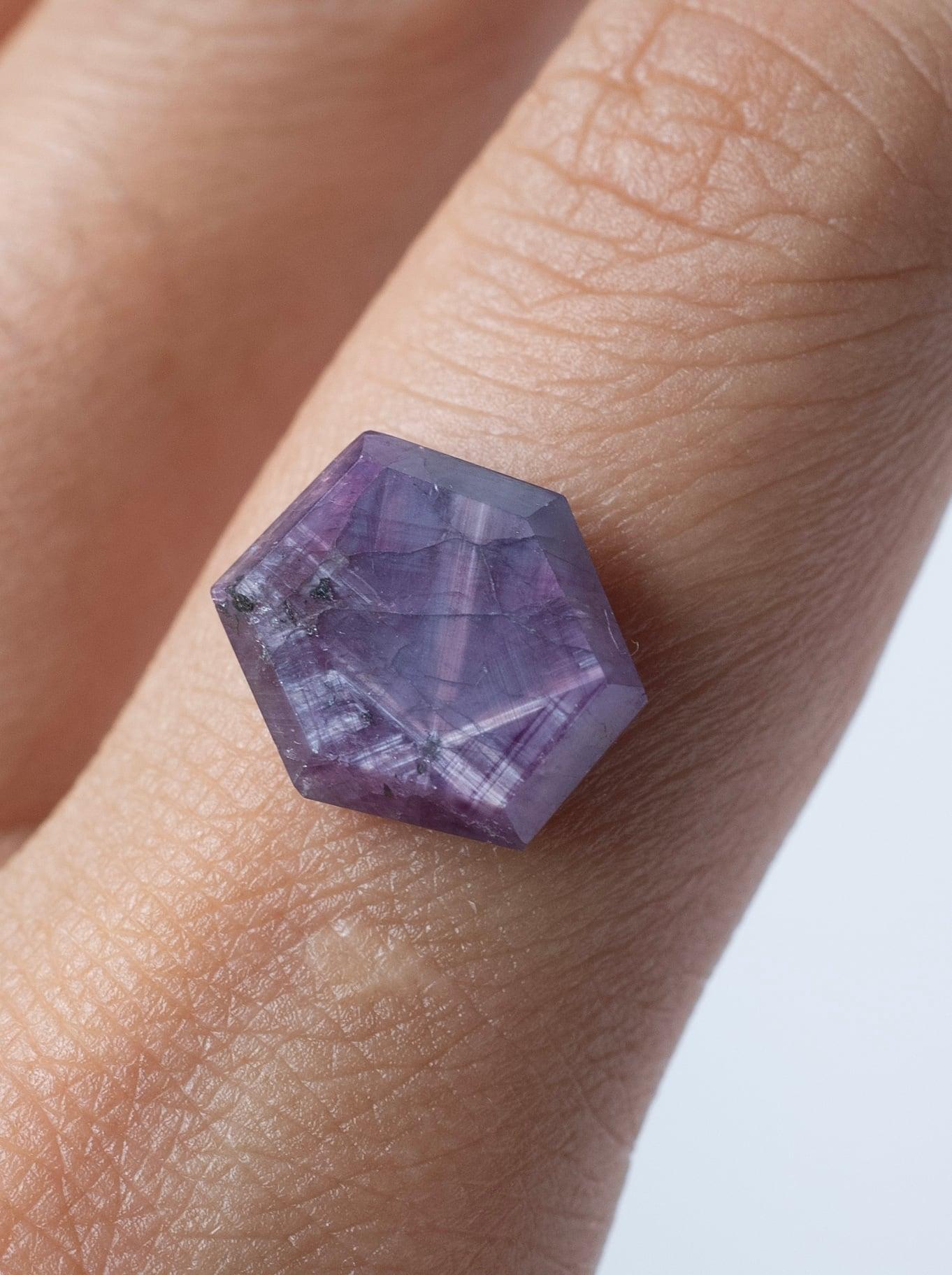 Trapiche Pink Sapphire / Kashmir  -017