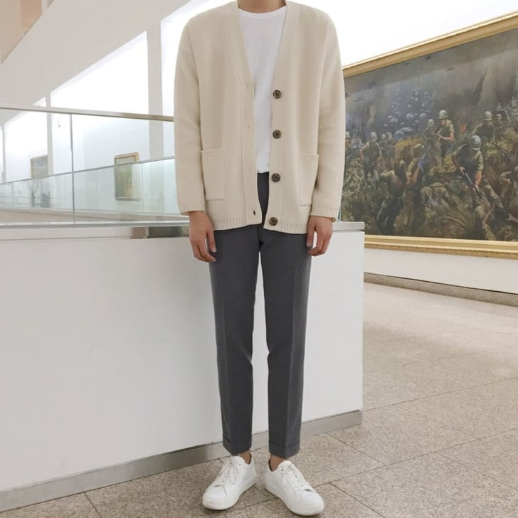 Single breasted cardigan   a-424
