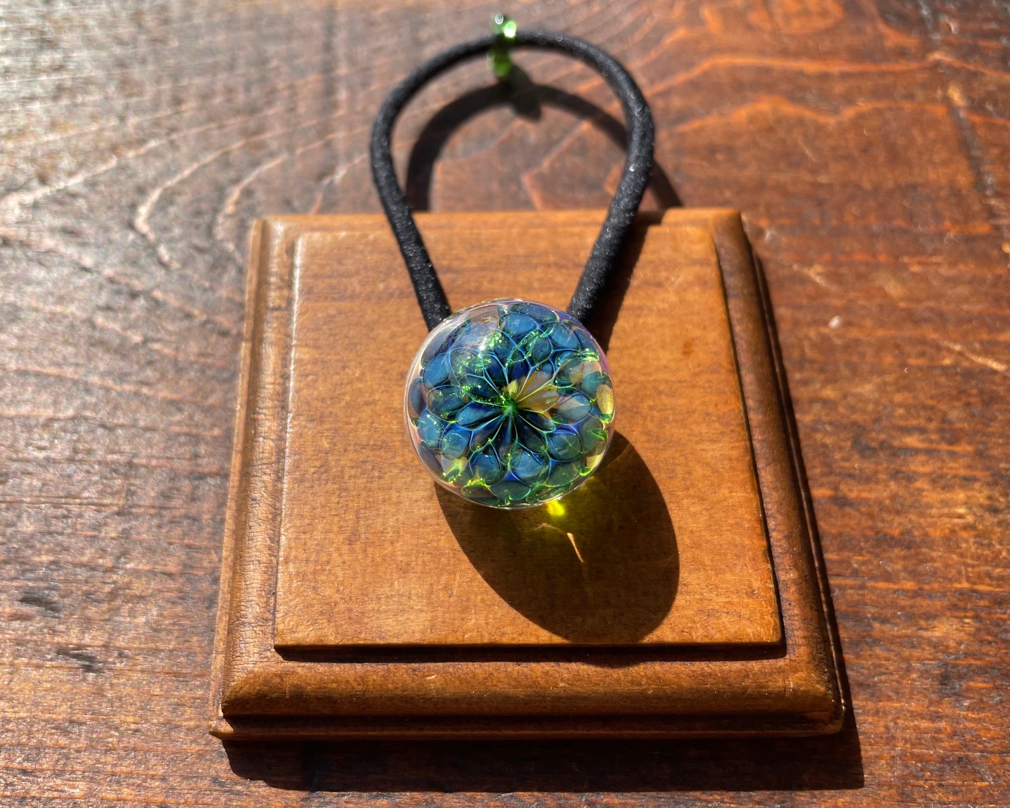 【GreenFlower】緑の花ヘアゴム size S