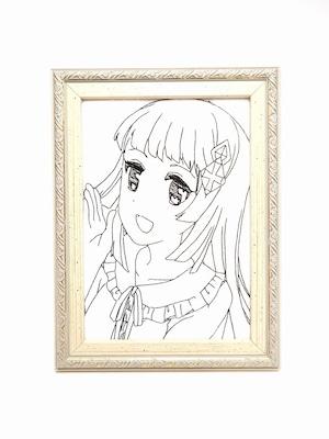 キャラ縫い額装刺繍 王女シャッフル「笑顔で挨拶 ごきげんよう」