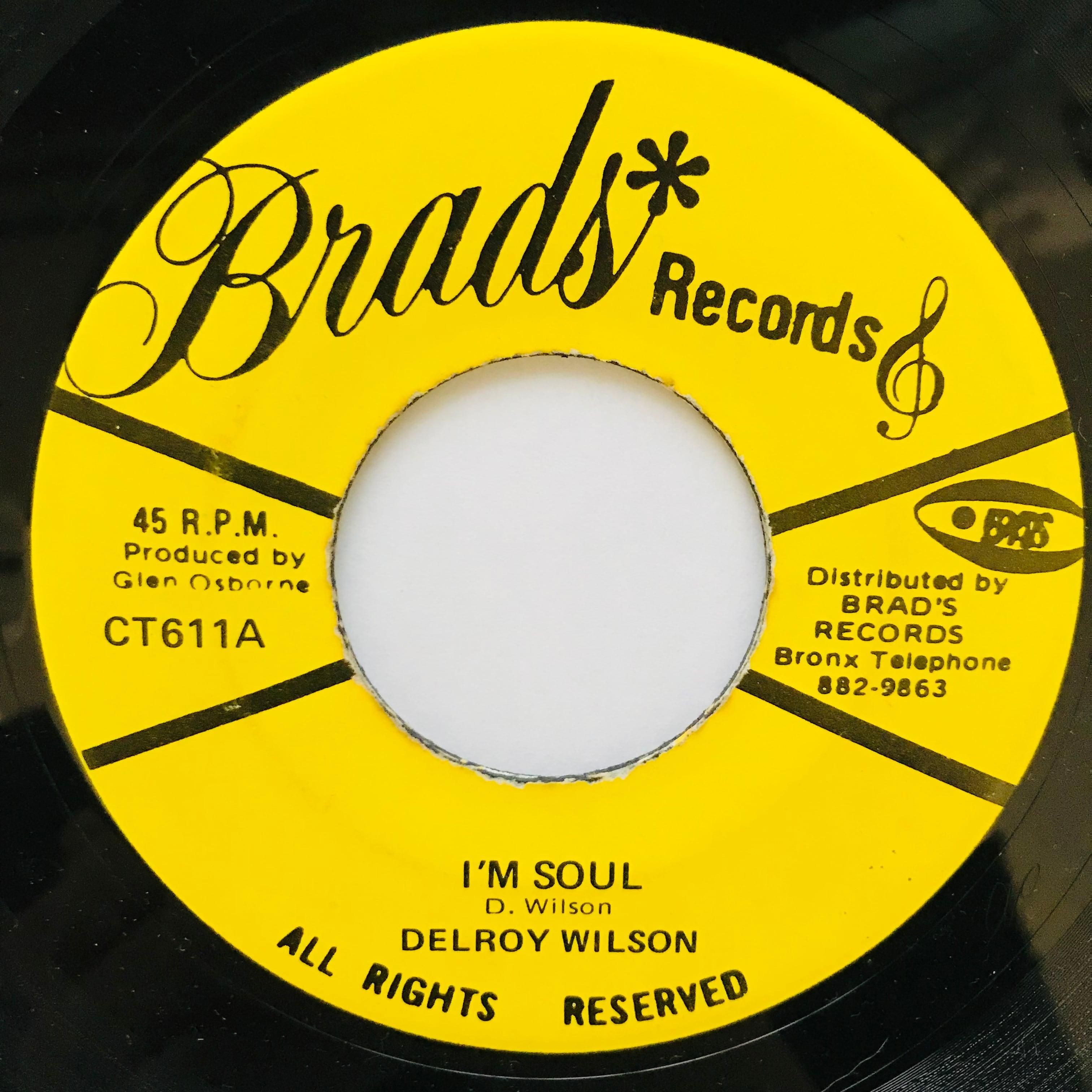 Delroy Wilson - I'm Soul【7-11048】