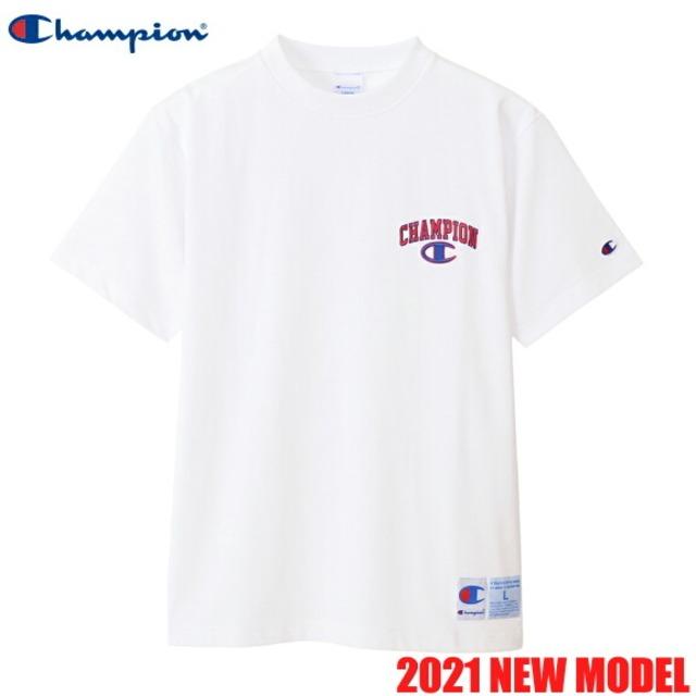 チャンピオン 半袖 Tシャツ クルーネック アクションスタイル メンズ CHAMPION 正規販売店 C3-T349 ホワイト