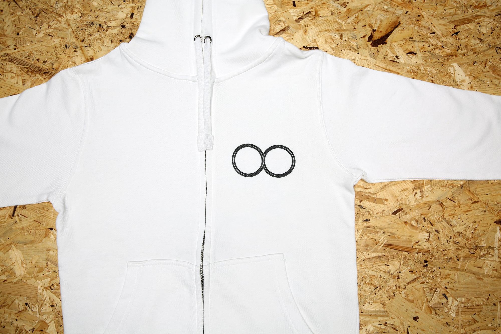 Icon Zip-up hoodie White / アイコン・フーディ