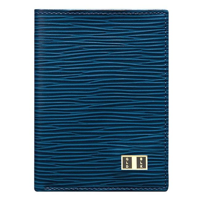 ゴールドブラック(GOLDBLACK) BIFOLD SLIM WALLET UNICO BLUE