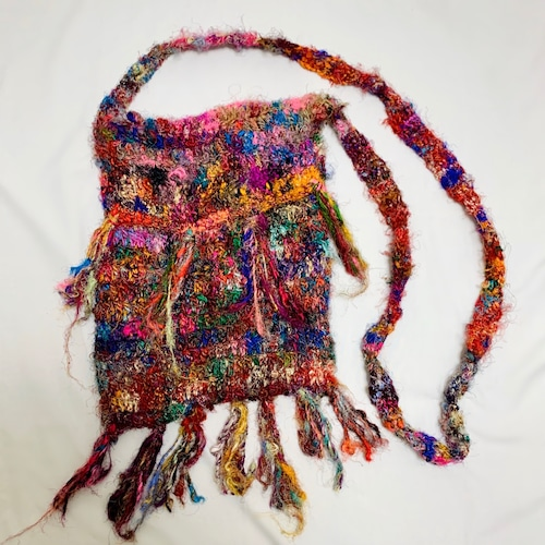 Vintage Silk Knitted Bag Made In Nepal