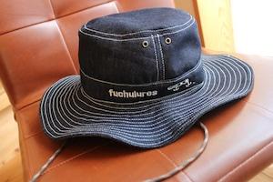 ホワイトステッチ デニムハット帽