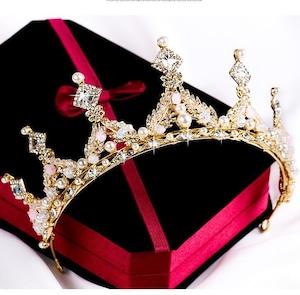 5505髪飾り ティアラ カチューシャ  ヘアアクセサリー ヘアバンド 結婚式ブライダルクラウン