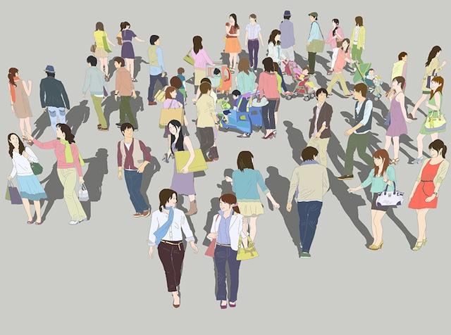 人物イラストSketchUp素材 4up_color01_20_5 - メイン画像