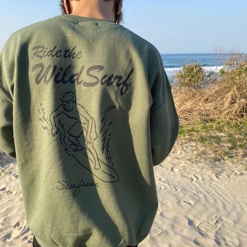 Wild surf Sweat - Military green