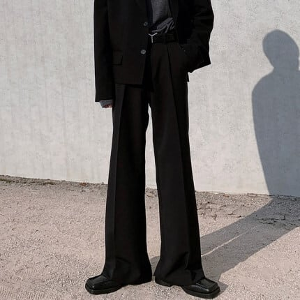 Drape wide leg pants   a-357