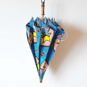 Bon Bon Store アフリカンバティック長傘(竹 006)