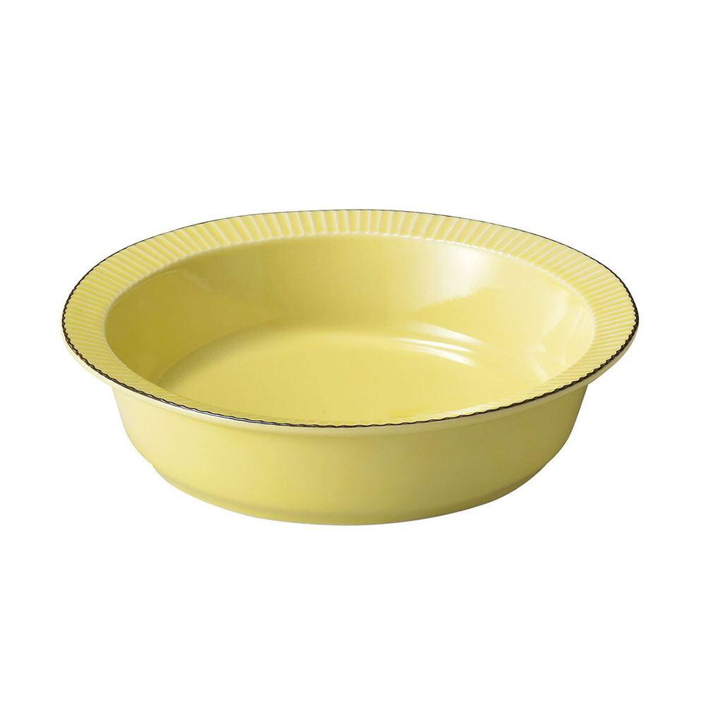 aito製作所 「ティント Tint」サラダボウル 皿 L 約20cm イエロー 美濃焼 289013