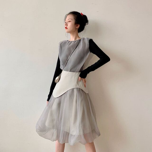 【SELECT】バルーンチュールスカート