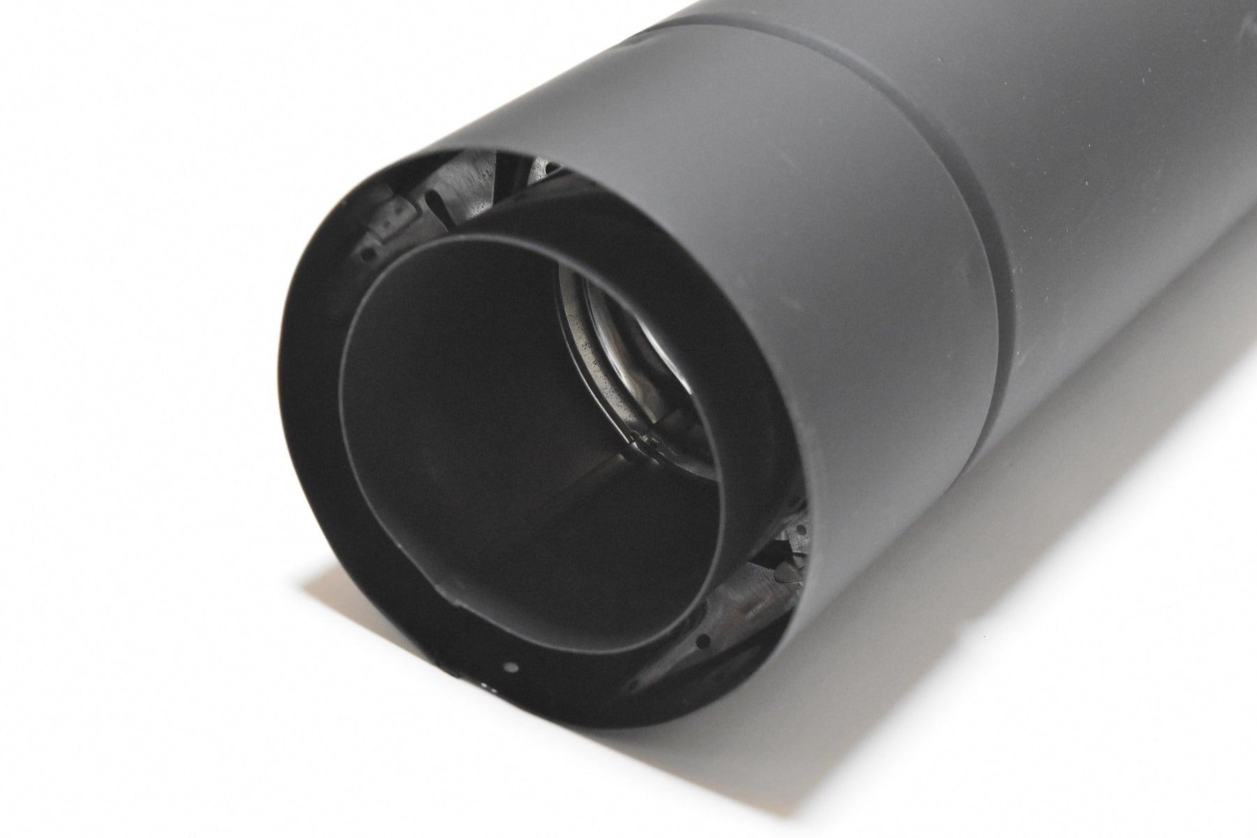 ホンマ製作所 黒耐熱 二重 ステンレス直管L600  φ106mm