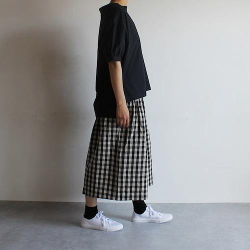 ギャザーキュロットスカート/ギンガムチェック