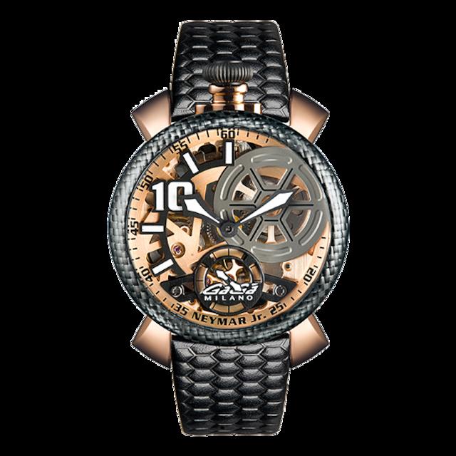 【GaGa MILANO ガガミラノ】Manuale 48/5511.NJ.02 限定ネイマールJrモデル(ブラックゴールド)/国内正規品 腕時計
