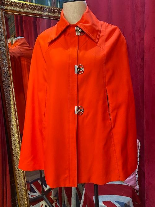 英国 60's Vintage ジャケット ポンチョ ケープコート