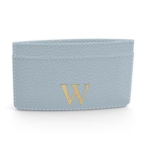 Premium Shrink Leather Card Case (Sky Blue)