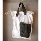 【sandglass】white custom bag / 【サンドグラス】ホワイト カスタム バッグ