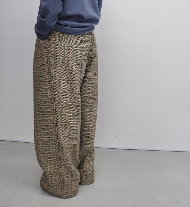 ippei takei 【イッペイタケイ】1tuck wide パンツ check
