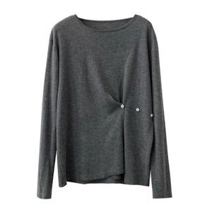 Side button knit(サイドボタンニット)b-496