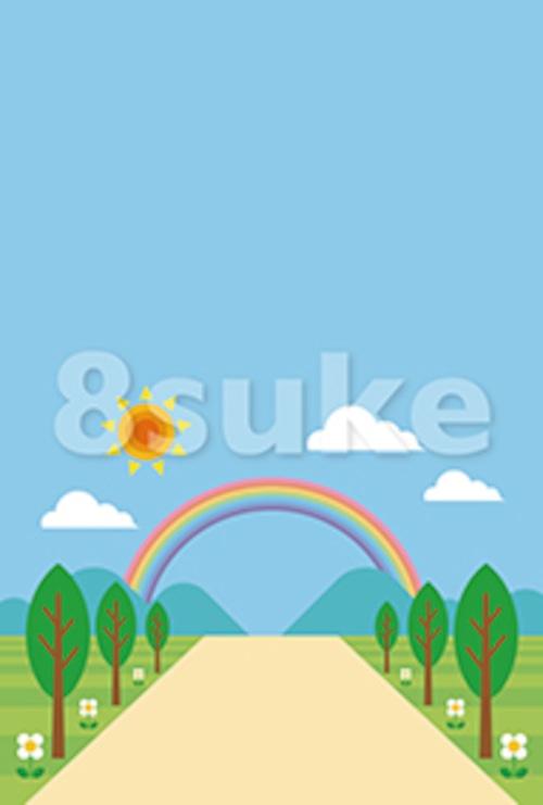 イラスト素材:春・夏の背景・バックグラウンド(ベクター・JPG)