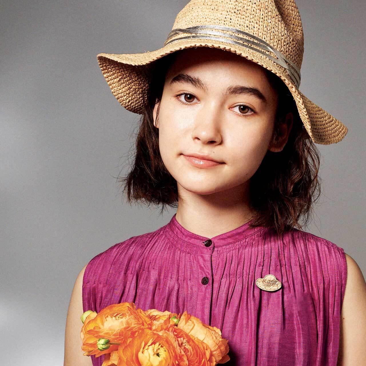 summer hat / 夏の帽子(Brooch)