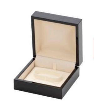 木製ブレスレットケース 艶ダークブラウン塗装 WOP-06-BR
