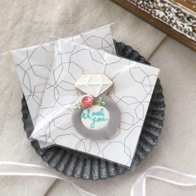 wedding ring cookie - 10枚から承ります