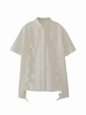 Layered shirt  / white / S15SH01