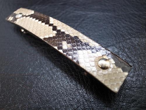 バレッタ(ヘア・アクセサリー)天然ダイアモンドパイソンA