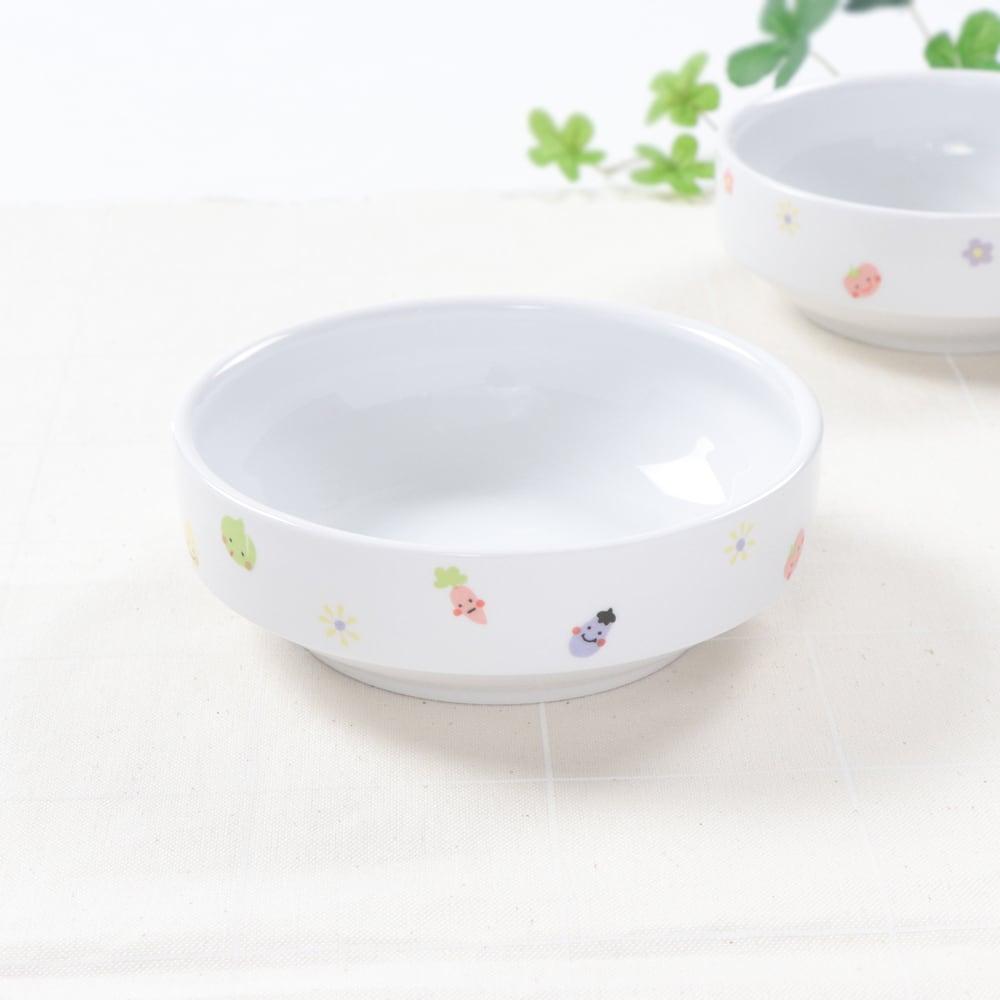 12.5cm すくいやすい食器 ぷちやさい 強化磁器【1713-1230】