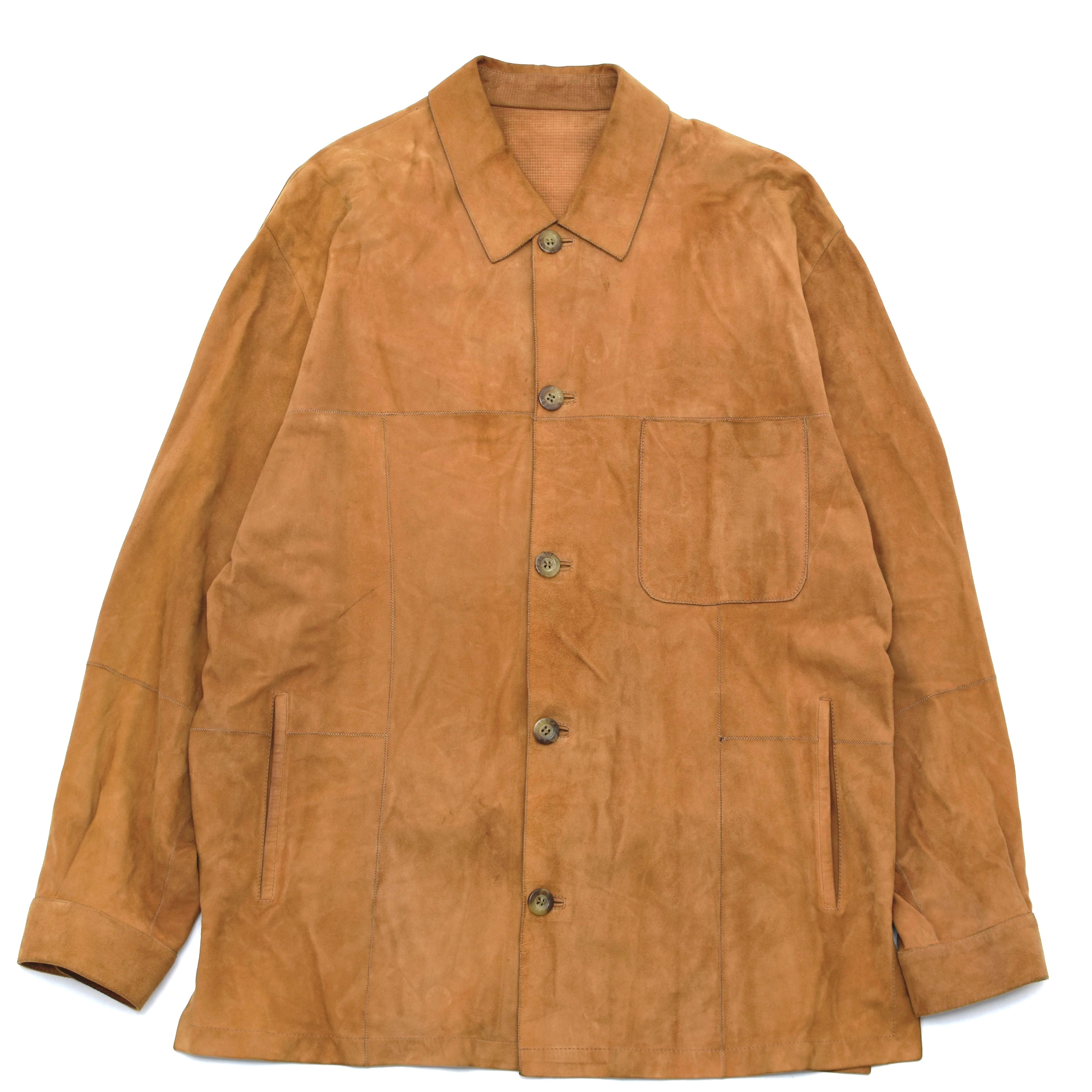 Suede leather shirt jkt Made in Spain